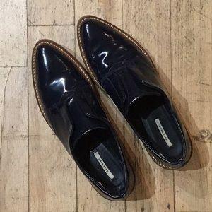 Zara Antique Leather Bluchers shoes
